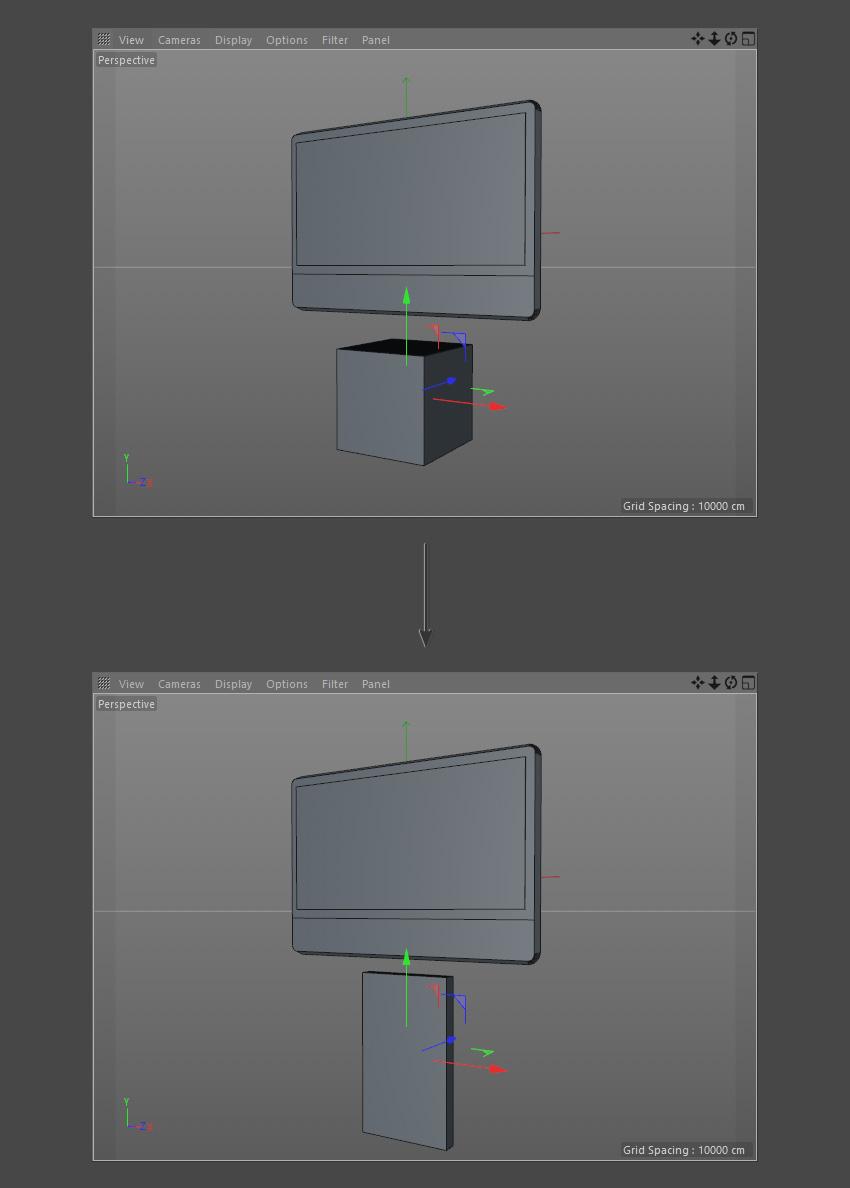 Adjust the cube