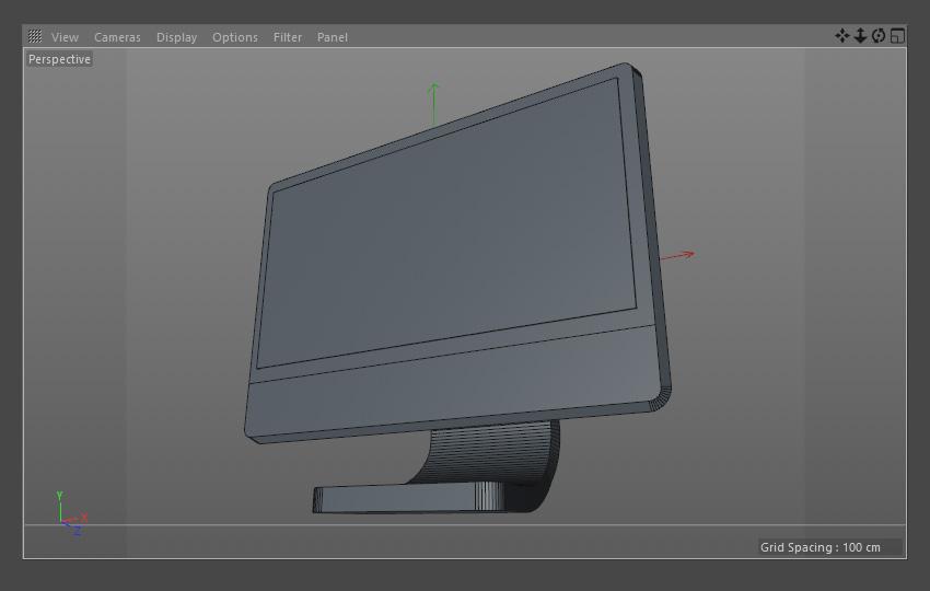Final computer monitor model