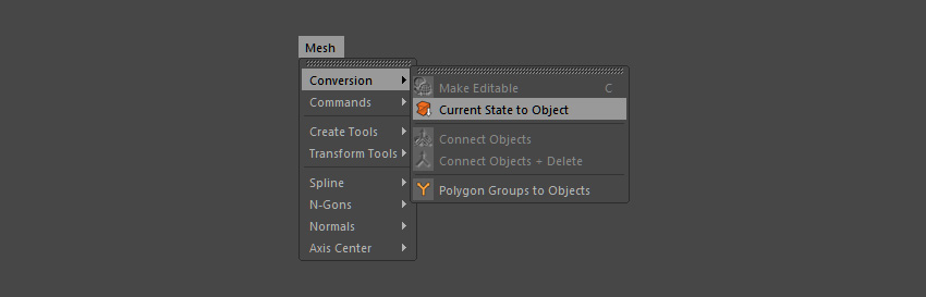 Select the bool and convert current state to object