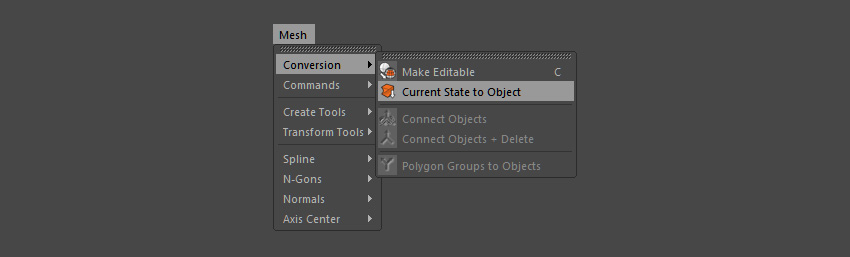 Convert current state to object