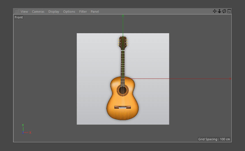 Open reference guitar image