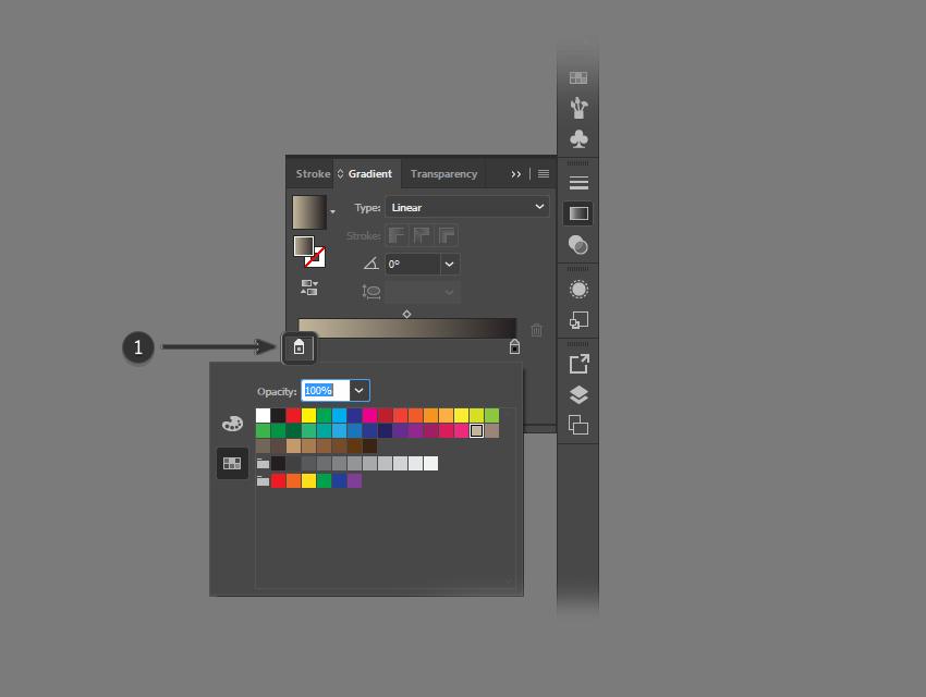 Определить цвет для градиента