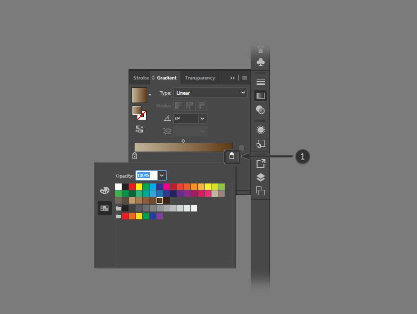 Определить конечный цвет для градиента