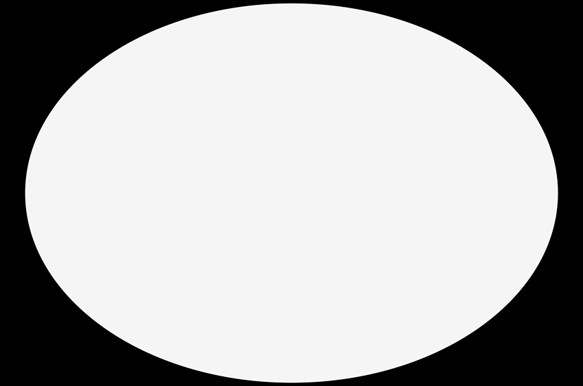 Create a white ellipse on a black background