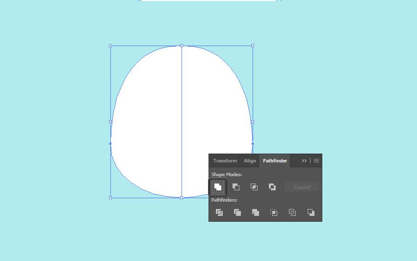 duplicate half of the shape