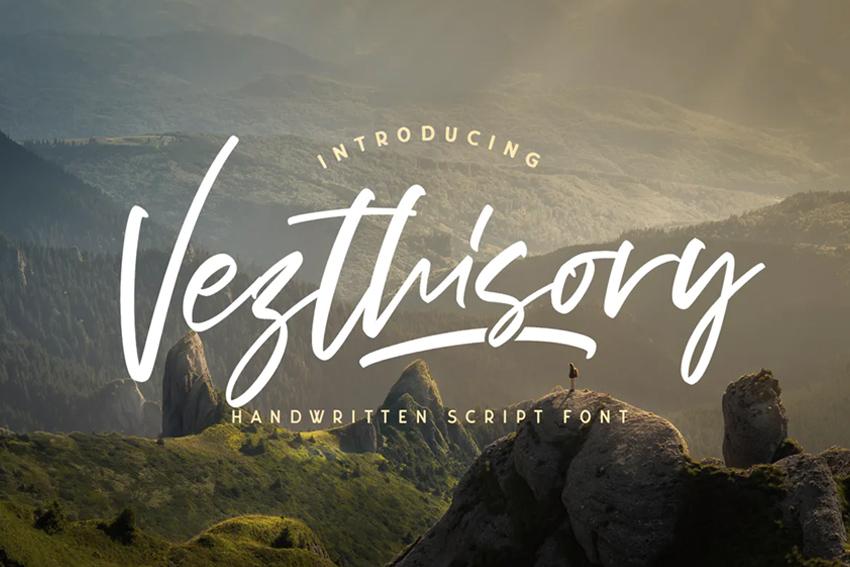 Vezthisory elegant script front