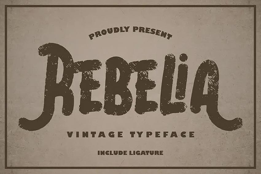 Rebelia  Vintage Typeface