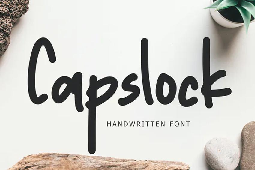 Capslock Handwritten Font