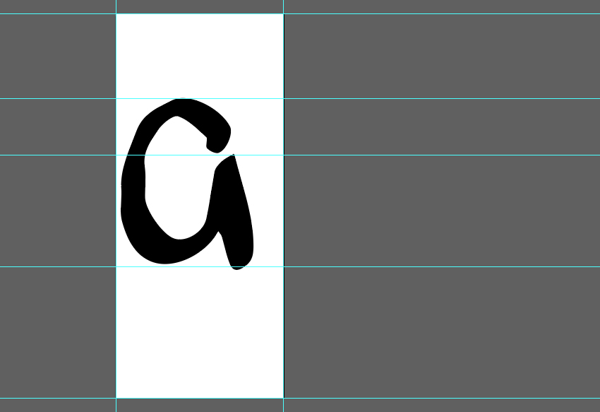 Place each letter on your Artboard