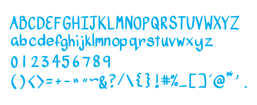 Complete all 89 of your glyphs for your font face