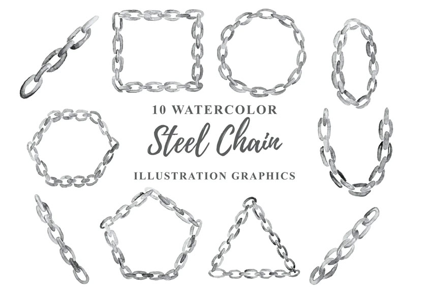 Watercolor chains