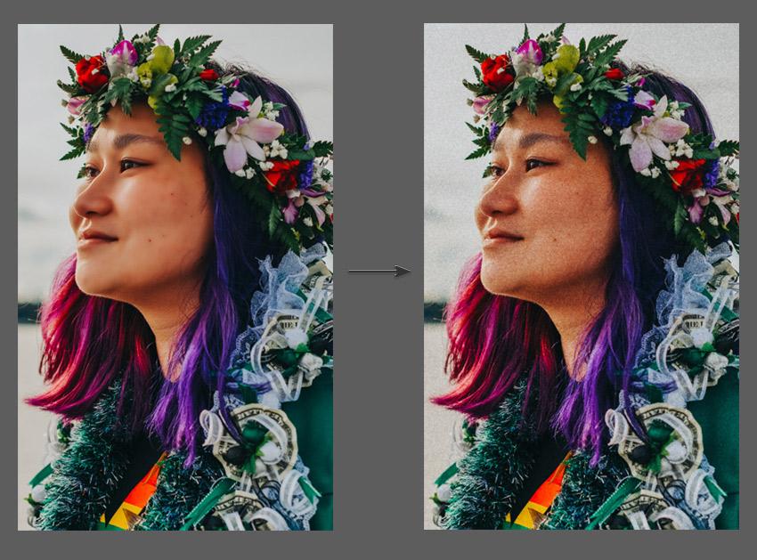 Add film grain to photograph