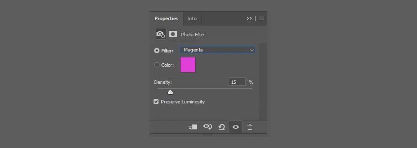 Choose magenta filter