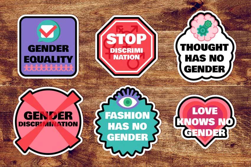 Gender stickers