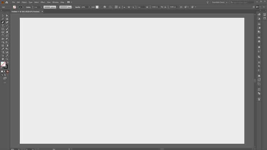 Adobe Illustrator Desktop UI
