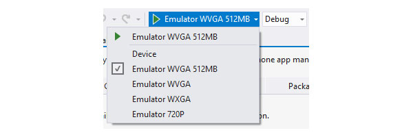 Options for Debugging a Windows Phone Application with the Default SDK