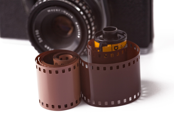 Photographers used to use film to make photos