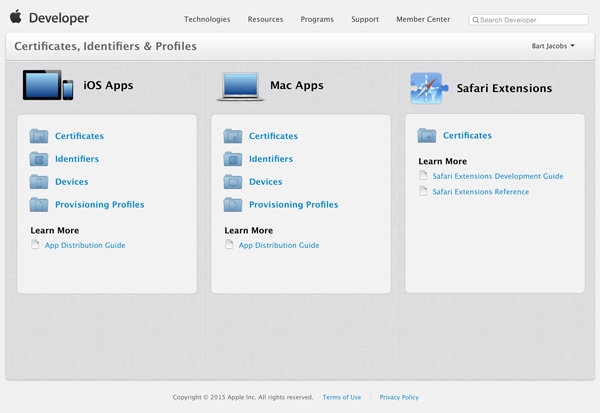 Certificates iOS Apps