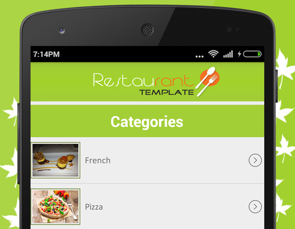 7 android templates to inspire your next project restaurant finder pronofoot35fo Images
