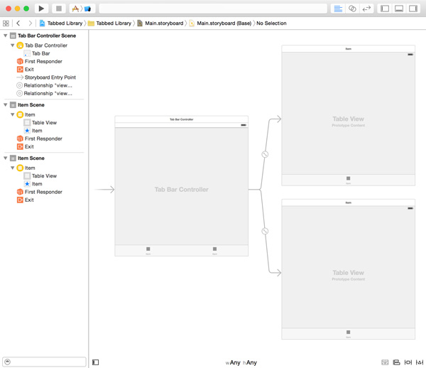 Adding Another Table View Controller