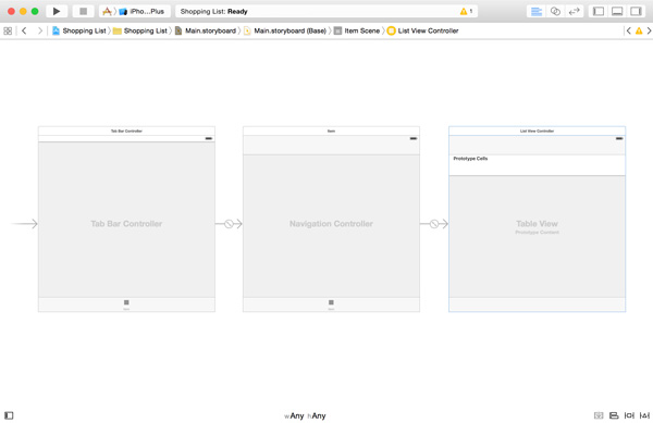 Embedding the List View Controller in a Navigation Controller