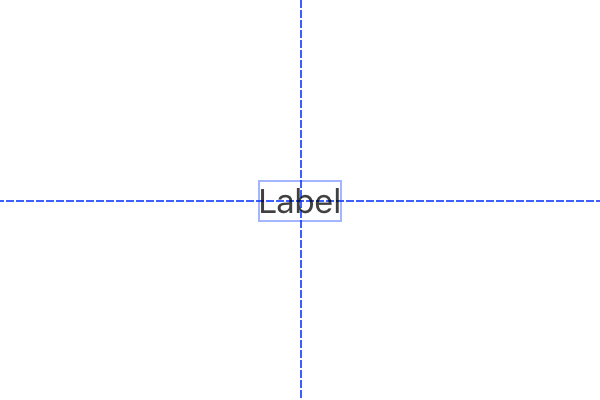 Snapping a Label Into the Center