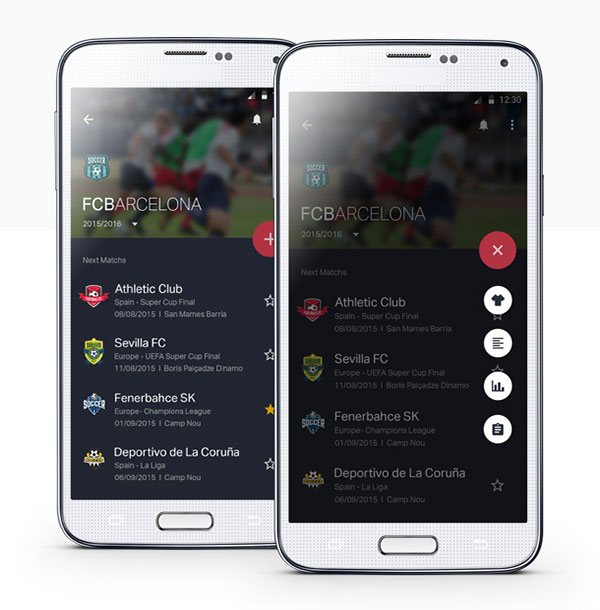 Football App with Material Design