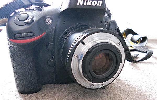 50mm lens reverse mounted on camera body using reversing ring