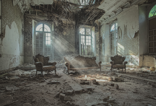 A derelict chateau in Belgium - Fun in the Congo by James Kerwin