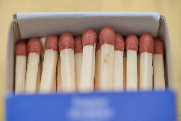 Matches in a box Photo Marie Gardiner