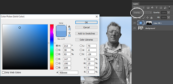 blend mode to overlay