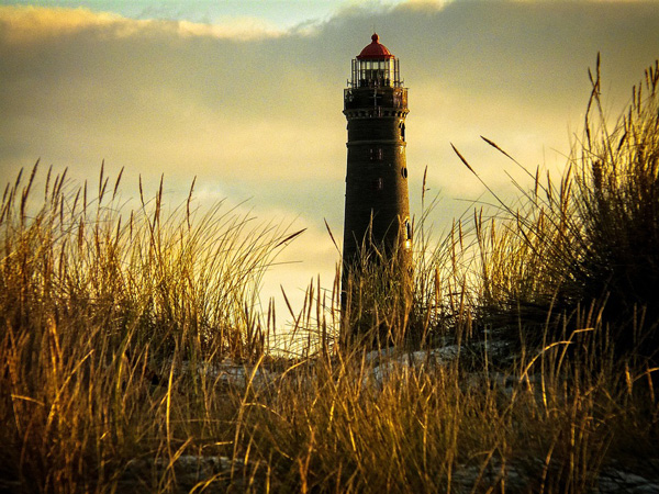 lighthouse and grass