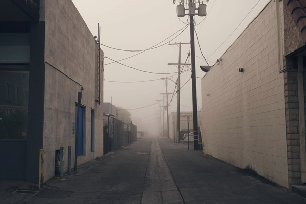 misty alley