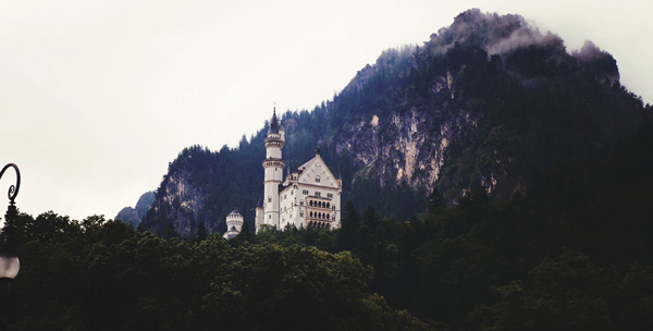 castle and mountain