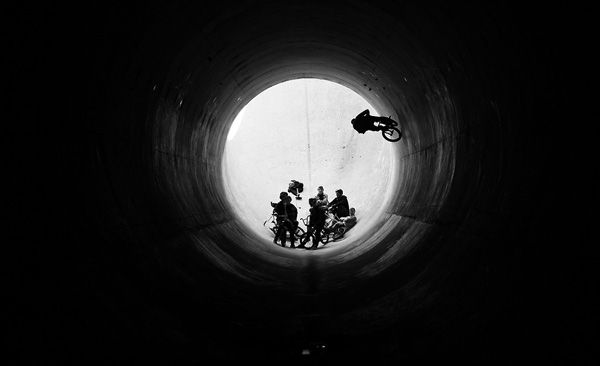 bike in tunnel
