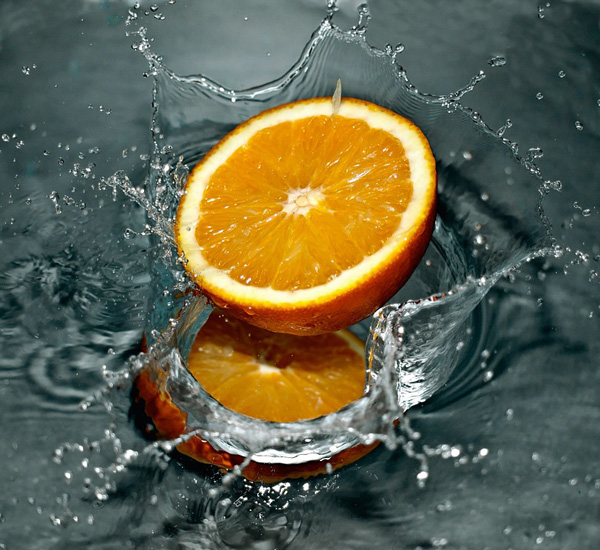 orange splash