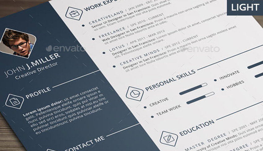 7 striking print resume templates for visual artists