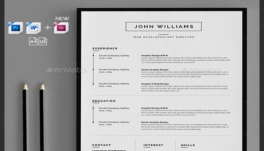 7 Clean and Simple Resume Templates for Visual Artists
