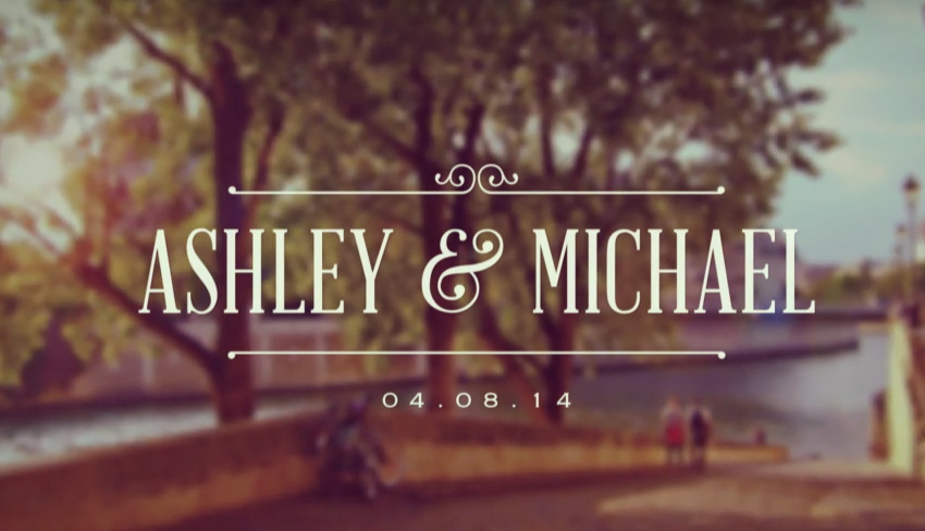 Formal Wedding Video Titles Template