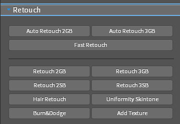 The Retouch section of the Universal Photoshop Panel