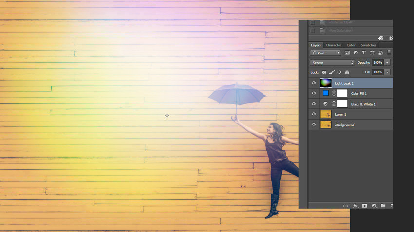 How to Create a Light Leak Effect In Adobe Photoshop (With Actions)