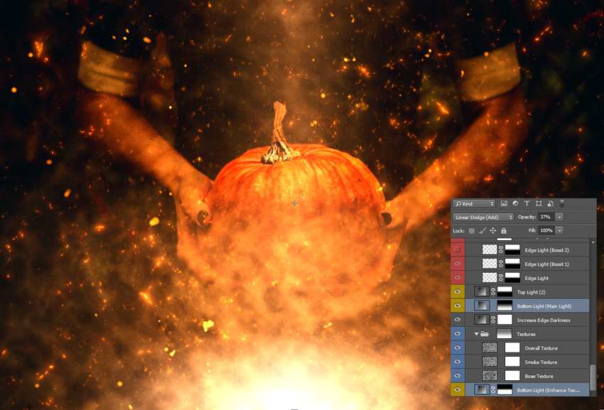 How to Make a Fiery Halloween Pumpkin in Photoshop (With an Action)