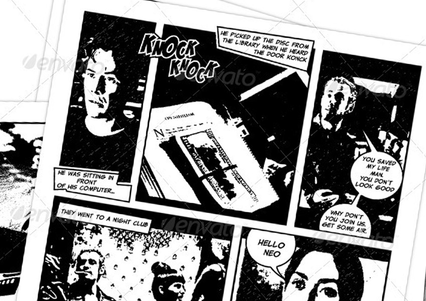 Comic Book Creation Kit Black  White