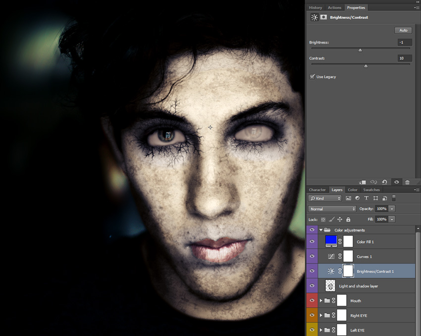 How to Turn a Photo into a Terrifying Zombie Portrait