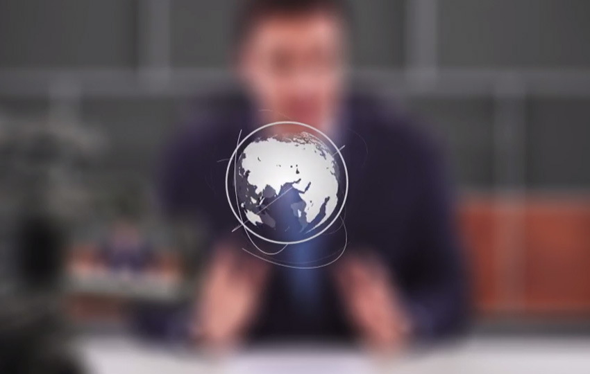 Simple Earth Logo Reveal