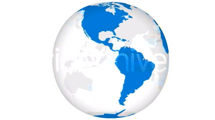 HD Spinning Earth Globe for light background