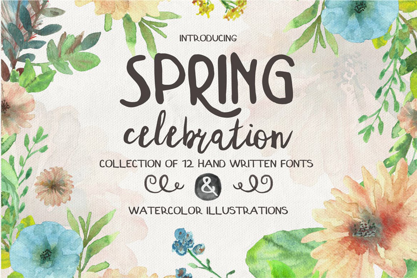 Spring Celebration  A Font Collection