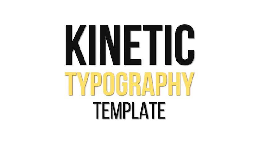 15 Kinetic After Effects Typography Animation Video Templates