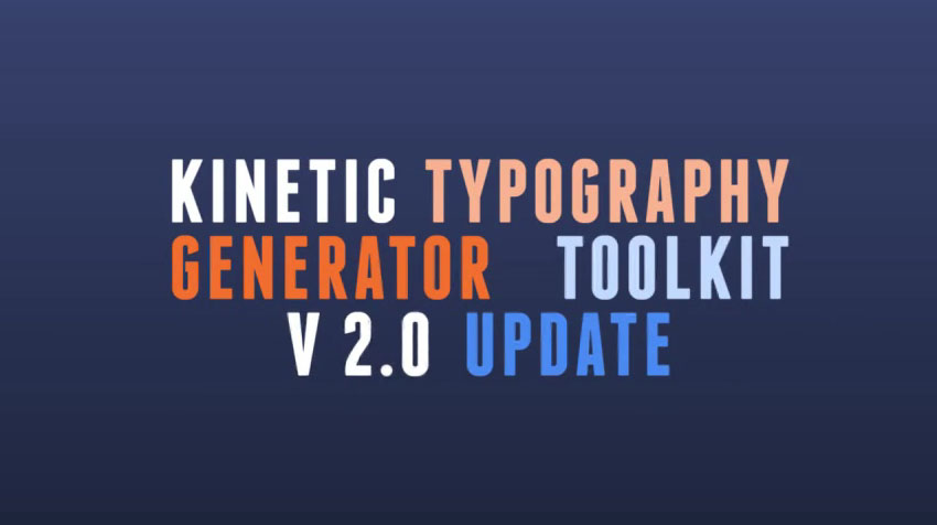 Kinetic Typography Generator Toolkit