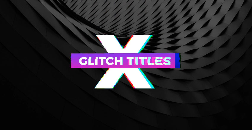 5 Gradient Glitch Titles Mogrt